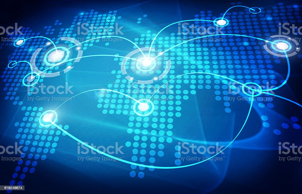 global trading map stock photo