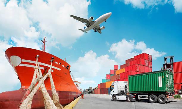 Global transport stock photo