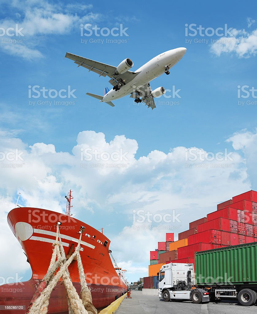 Global transport stock photo