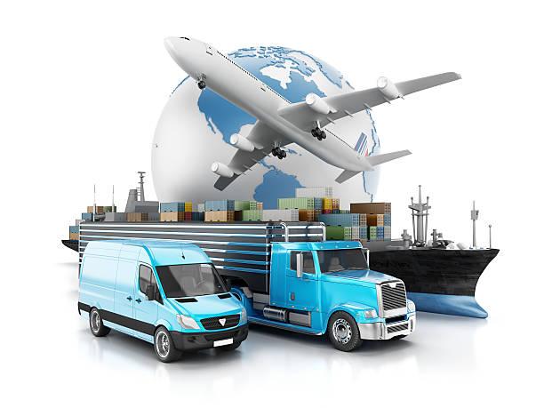 Global de transporte - foto de stock