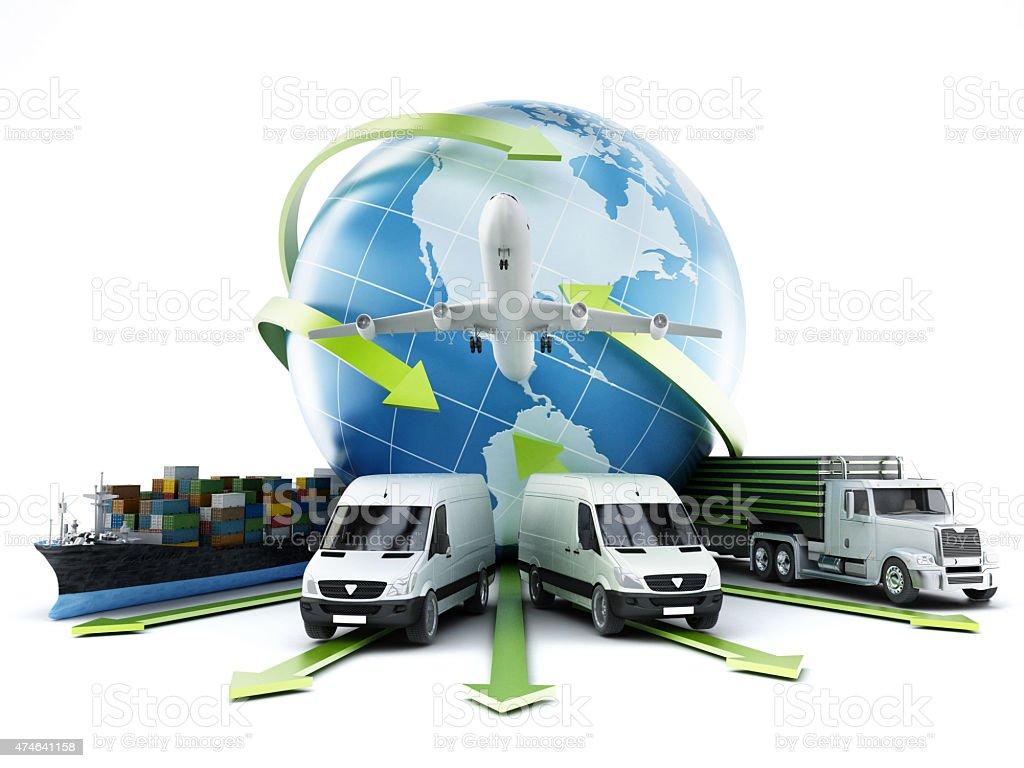 Global transportation stock photo