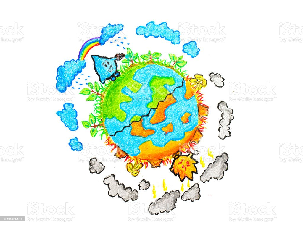 global warming concept stock photo