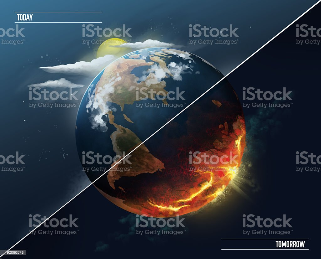 global warming earth before and after stock photo amp more