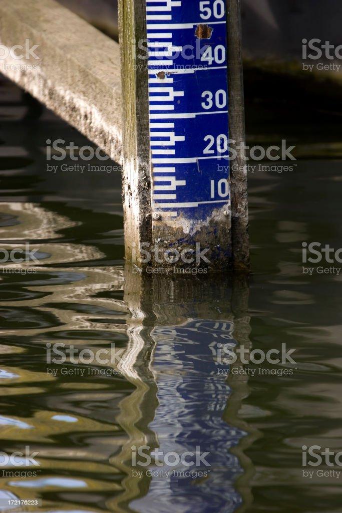 Global warming gauge stock photo