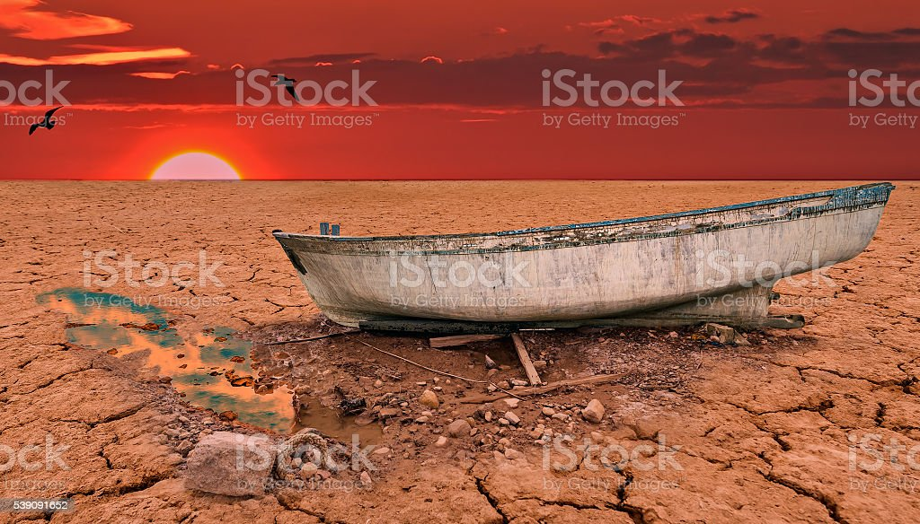 Global warming is a real threat for our civilization stock photo