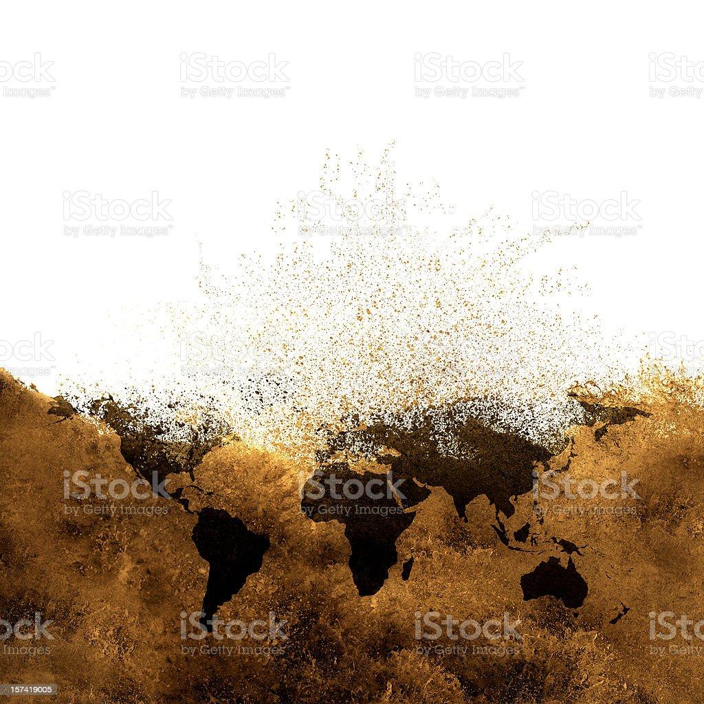 global warming metaphor royalty-free stock photo