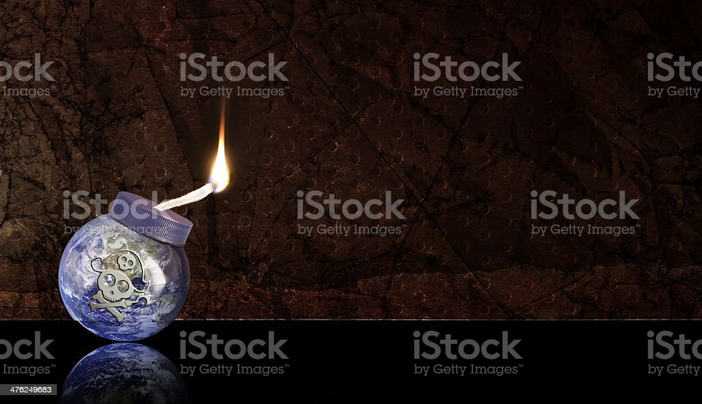 Global Warming - Planet Earth is set to explode royalty-free stock photo