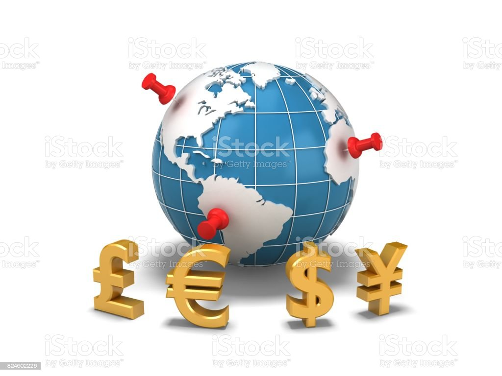 Global wealth investment stock photo