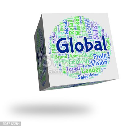 Global Word Showing Worldwide Text And Wordcloud