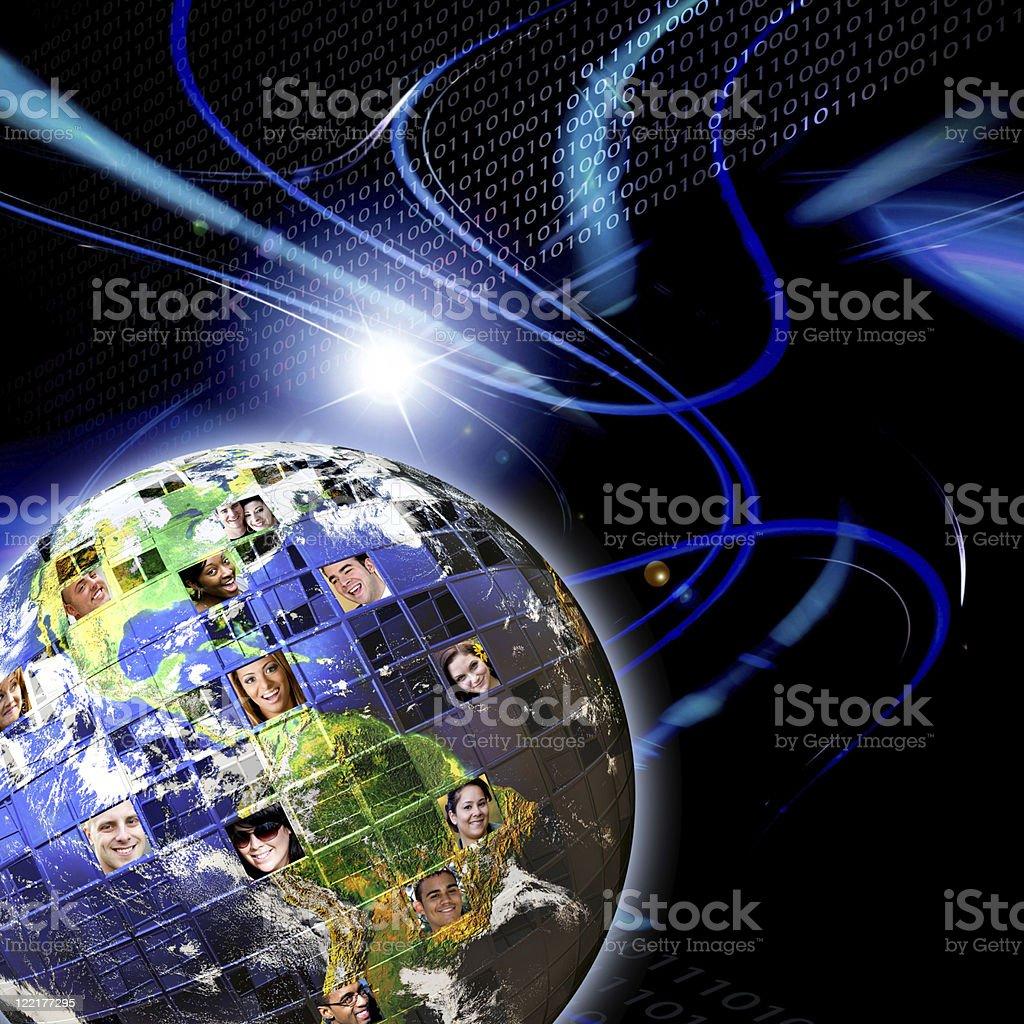 Global Worldwide Network of People stock photo