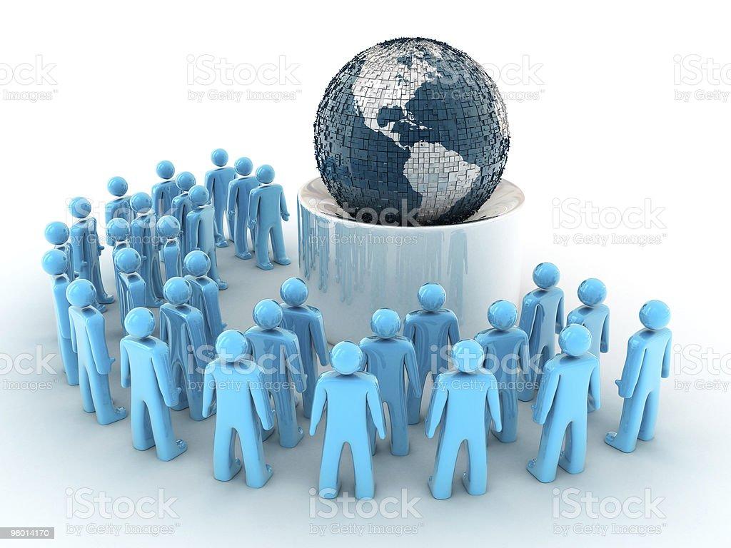 글로벌라이제이션 컨셉입니다 royalty-free 스톡 사진