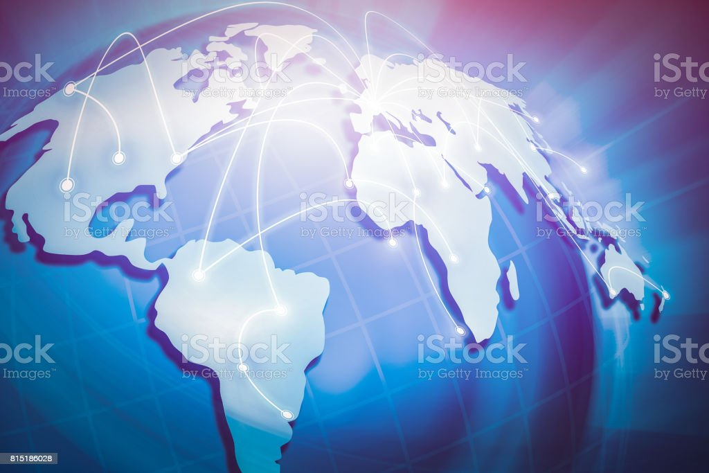 Globalization in the world. stock photo