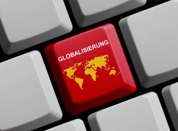 Globalization online german stock photo