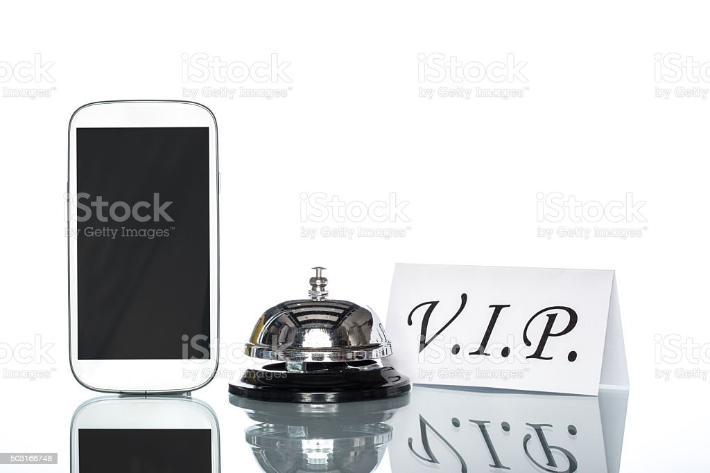globalization website booking lodging by cell phone, vip Service stock photo