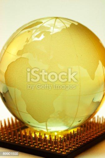 istock Globe and chip 89901500