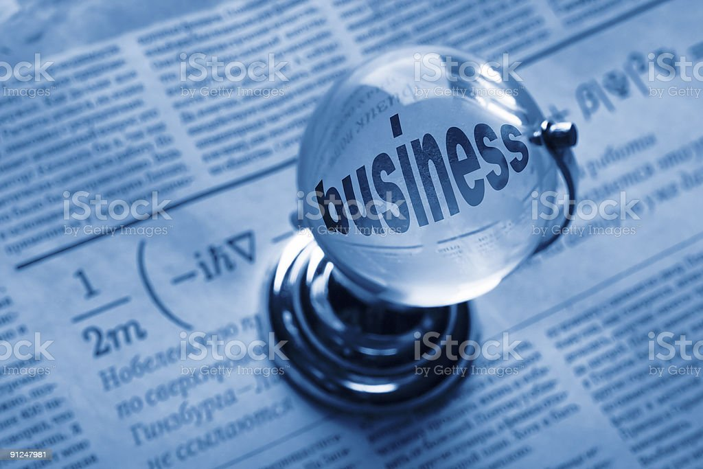 globe and formula of business royalty-free stock photo