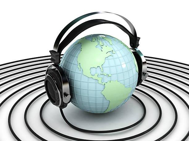 Globe et écouteurs - Photo