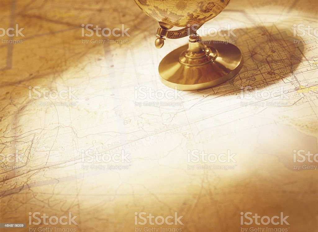 globe and map stock photo