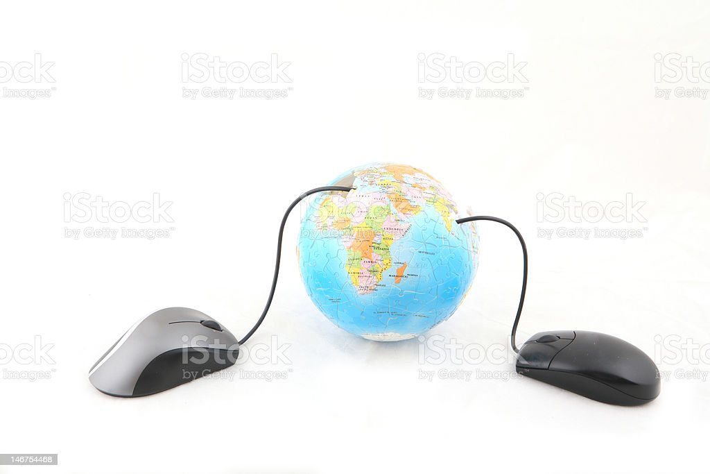 Globe and Mouse royalty-free stock photo
