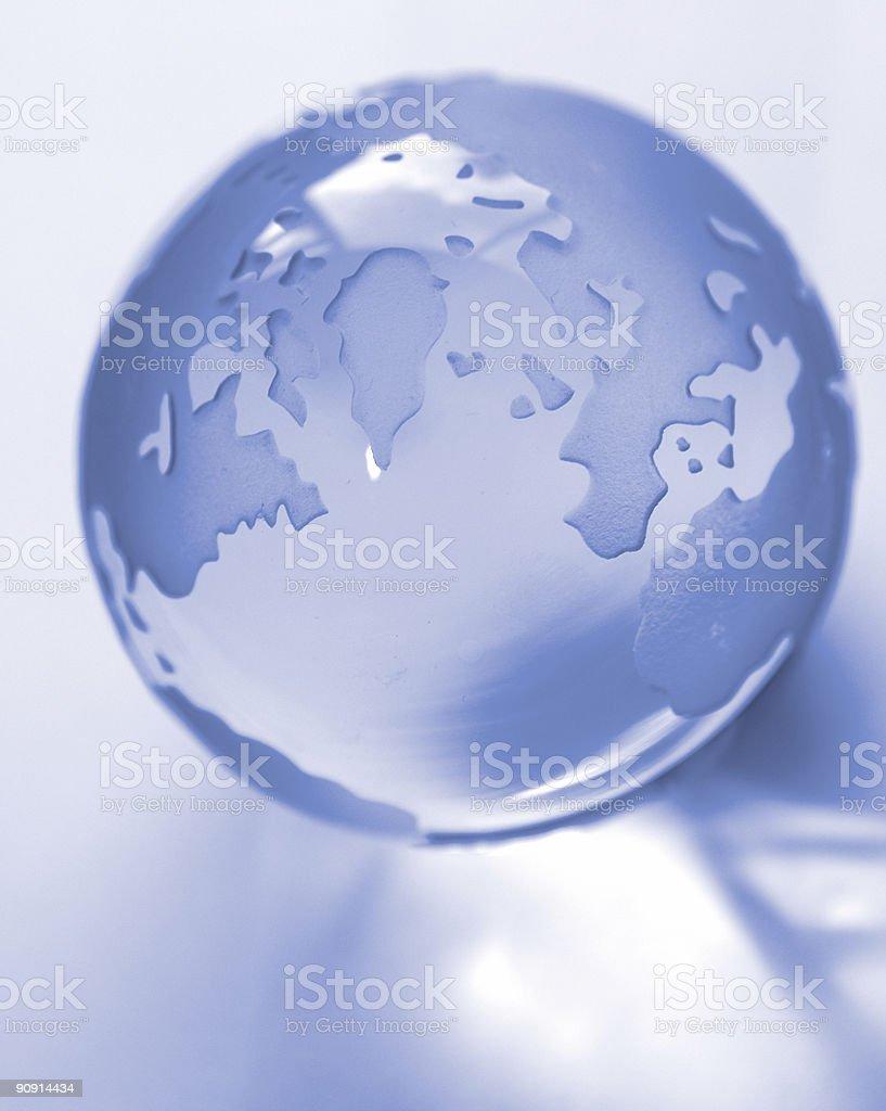 Globe and reflection stock photo