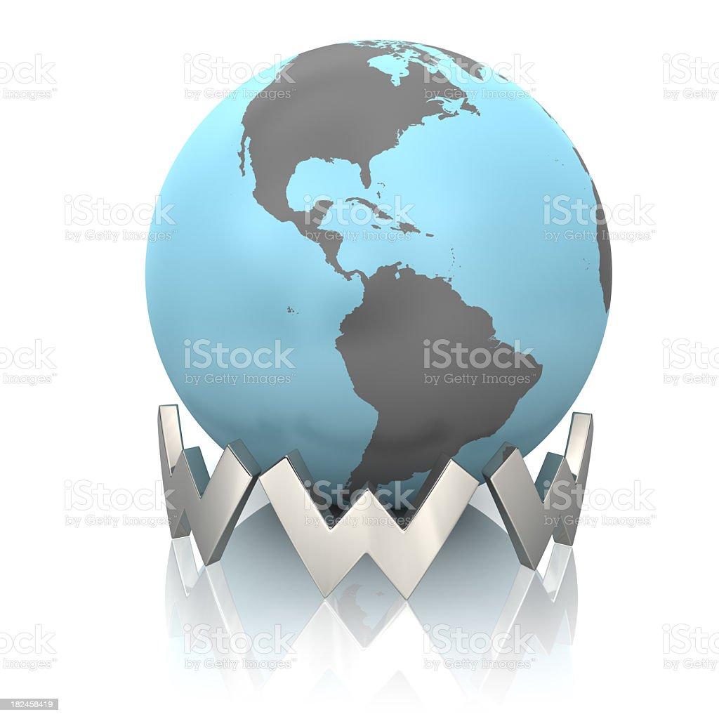 Globo y la World Wide Web foto de stock libre de derechos