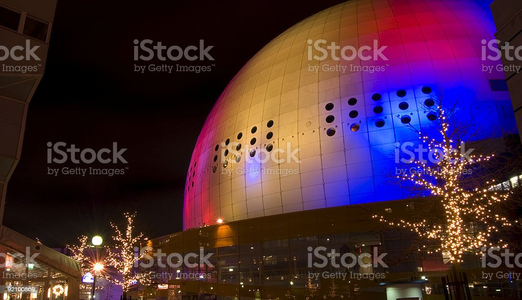 Globe (Globen) Arena, Stockholm, Sweden; Architectural Abstract royalty-free stock photo