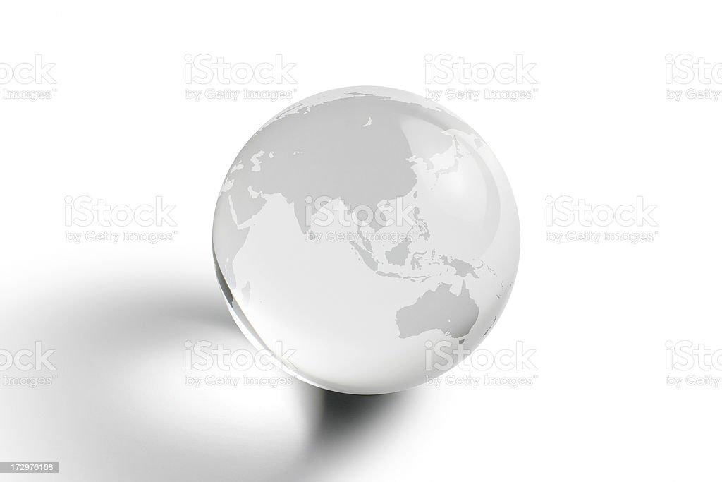 Globe - Asia and Australia royalty-free stock photo