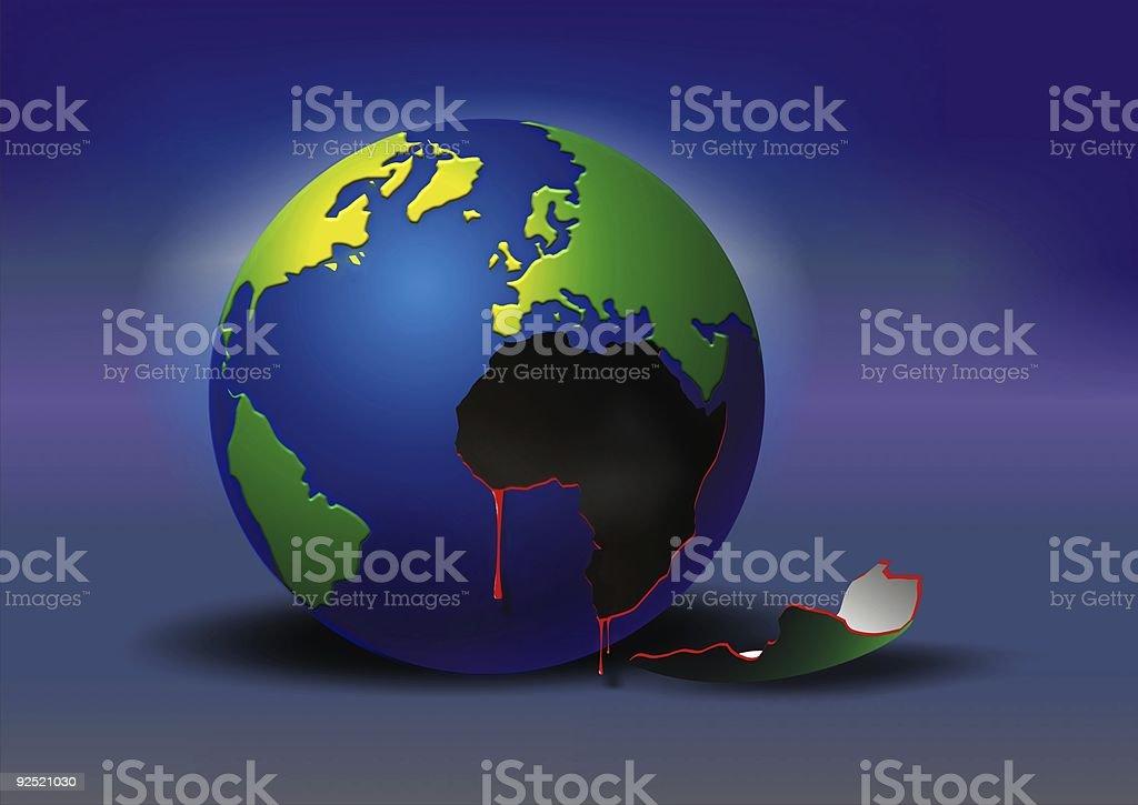 globe bleeding royalty-free stock photo