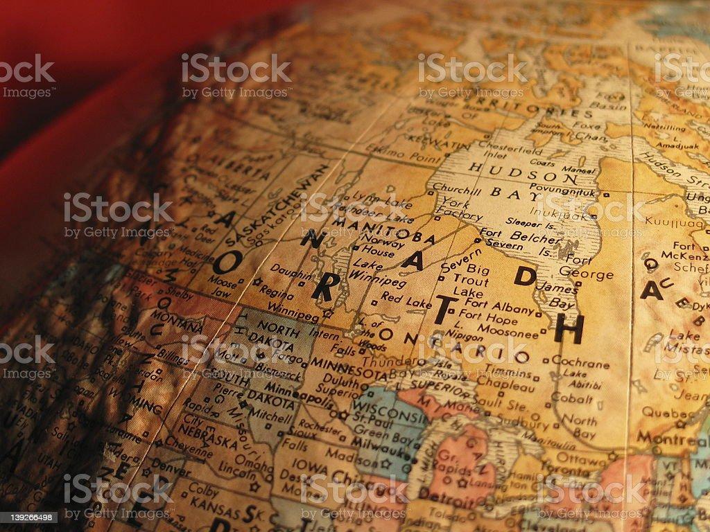 Globe Canada royalty-free stock photo