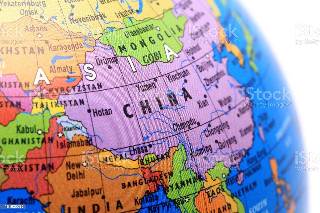 Globe China royalty-free stock photo