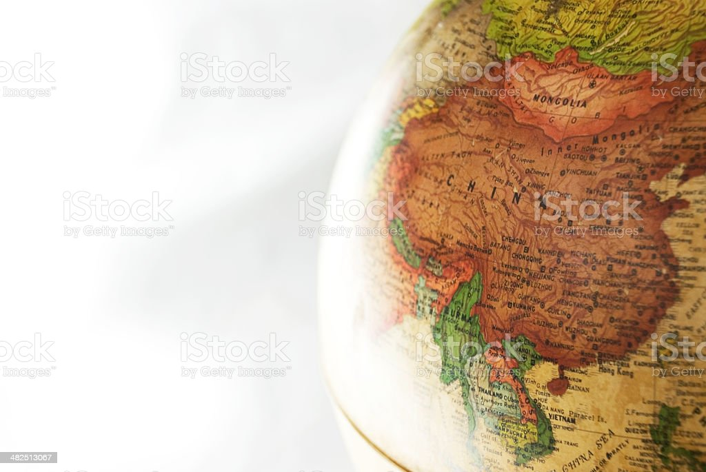 globe china stock photo