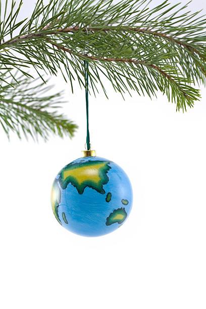 Globe Christbaumkugel mit Asien – Foto
