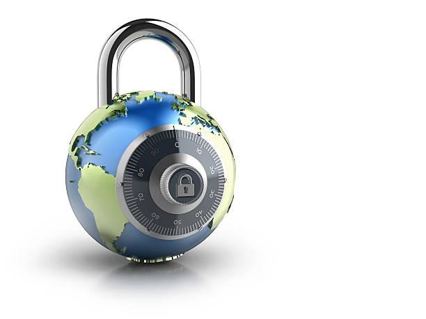 Globe Combination Lock stock photo