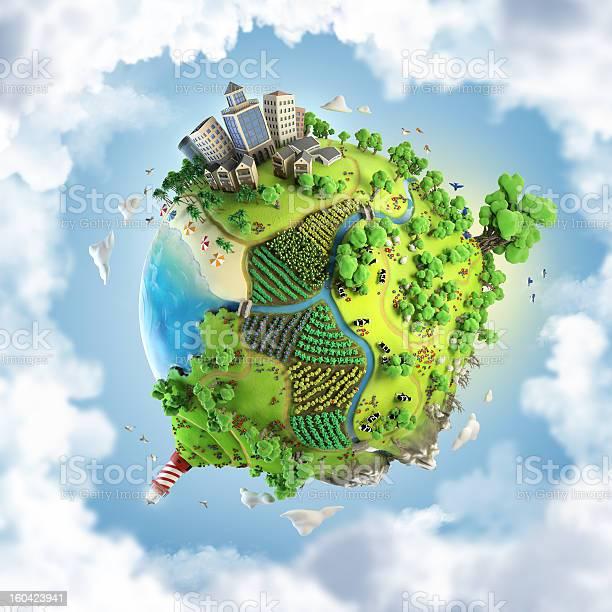 Photo of globe concept of fantasy happy green world
