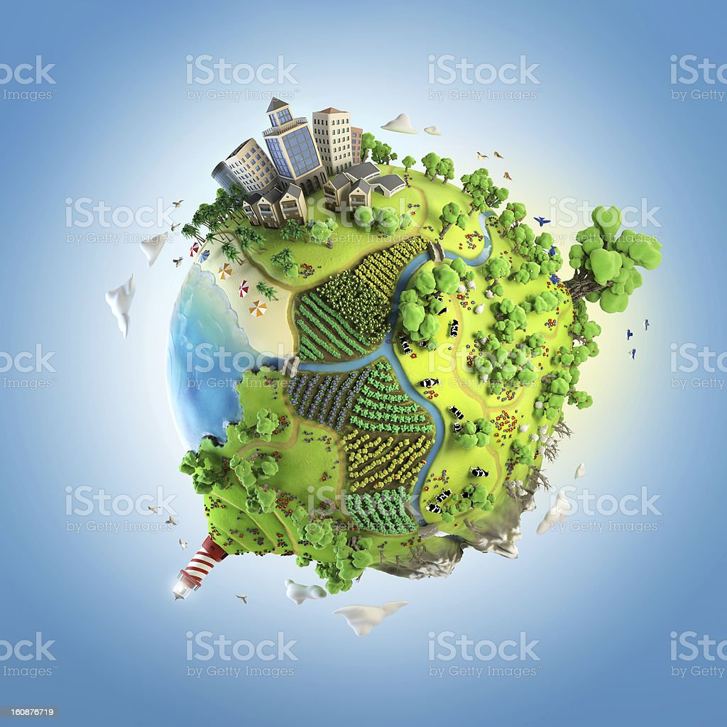 globe concept of idyllic green world stock photo