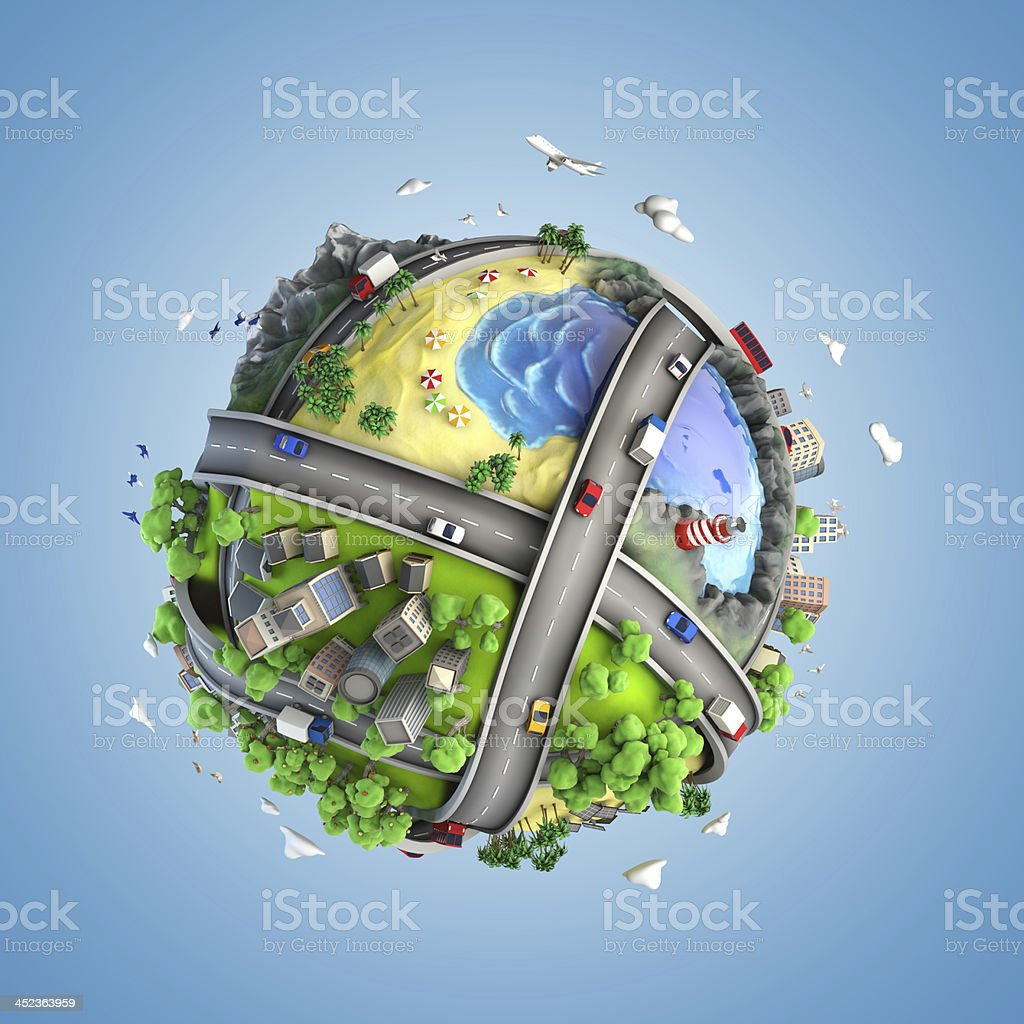globe concept of the world and life styles stok fotoğrafı