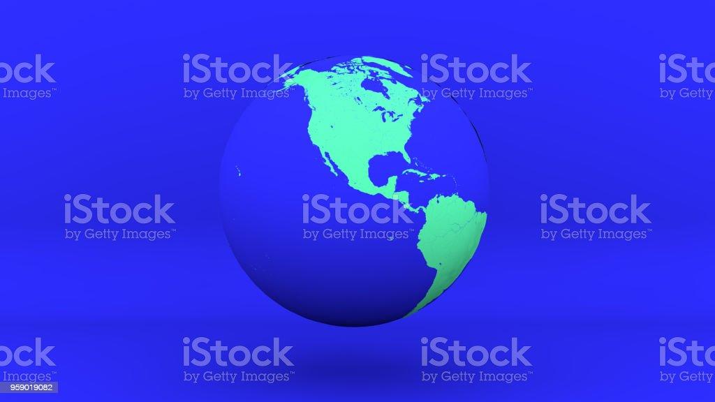 globe earth america blue green stock photo