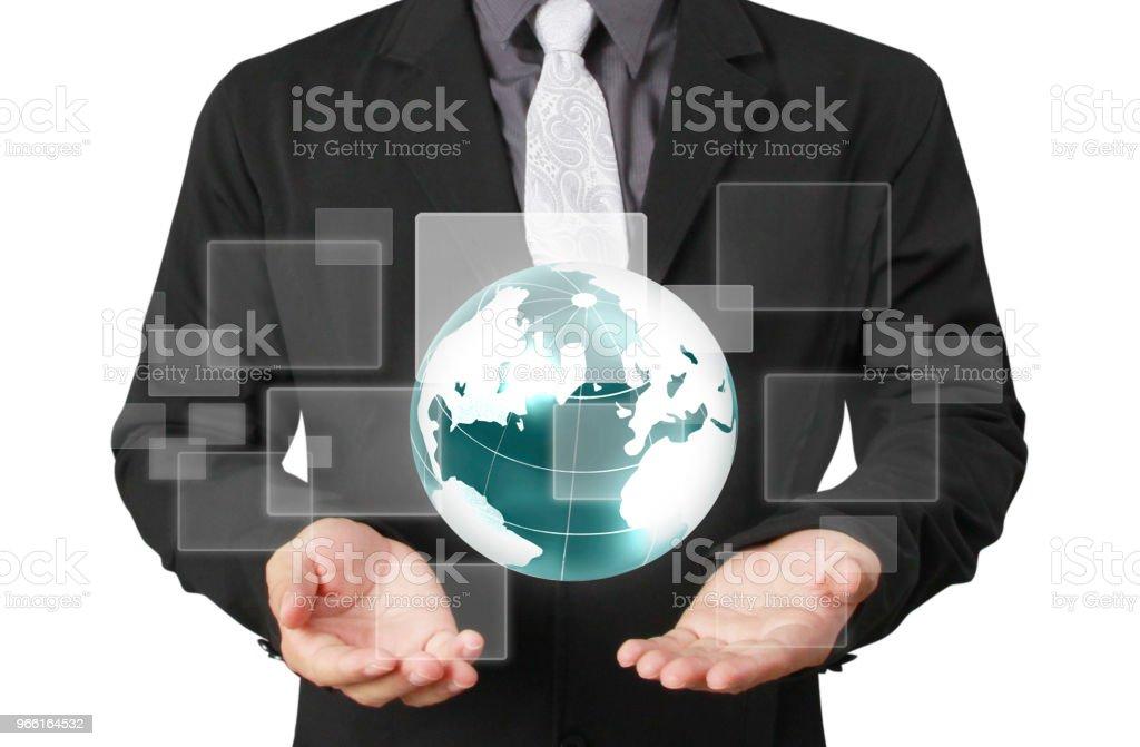 Globo, tierra en mano humana tierra imagen proporcionada por la Nasa - Foto de stock de Adulto libre de derechos