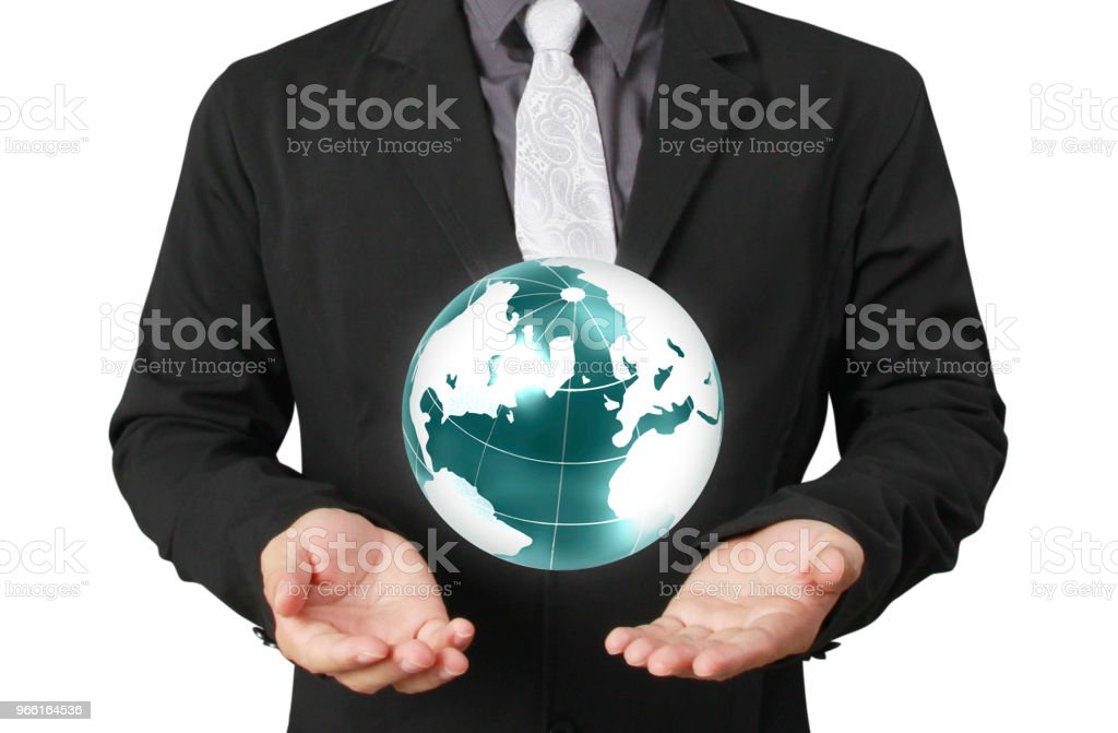 Globe ,earth in human hand Earth image provided by Nasa - Royalty-free Adult Stock Photo