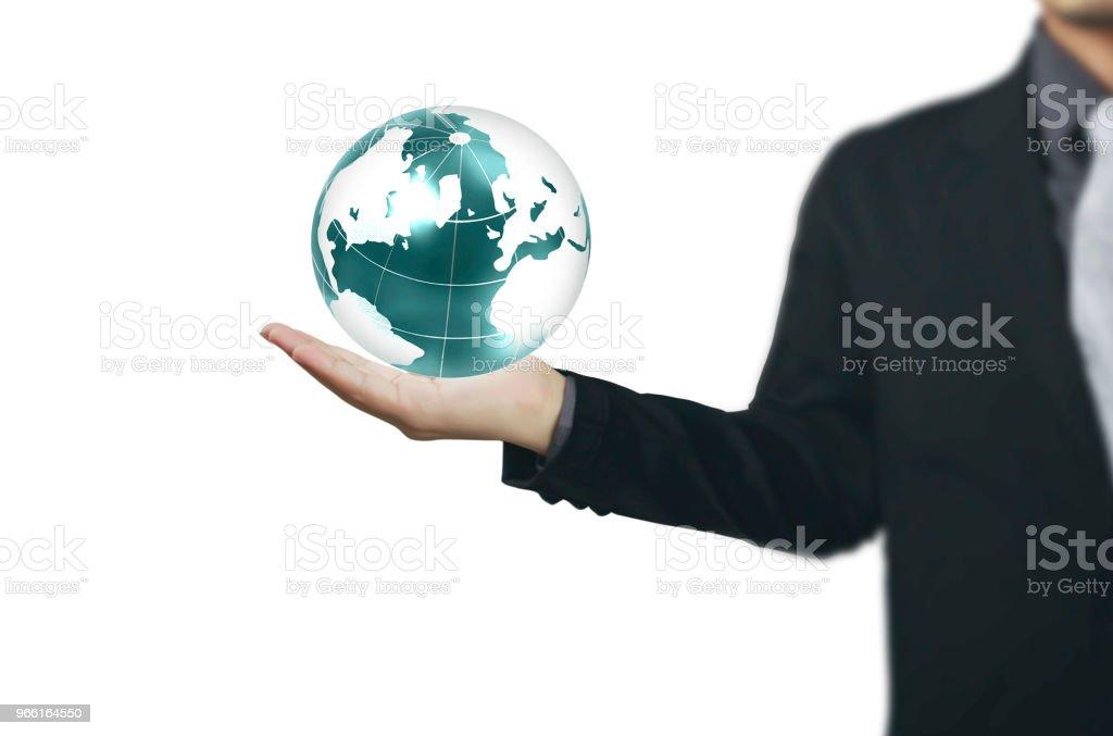 Globus, Erde in Menschenhand Earth-Bild von der Nasa zur Verfügung gestellt - Lizenzfrei Erwachsene Person Stock-Foto