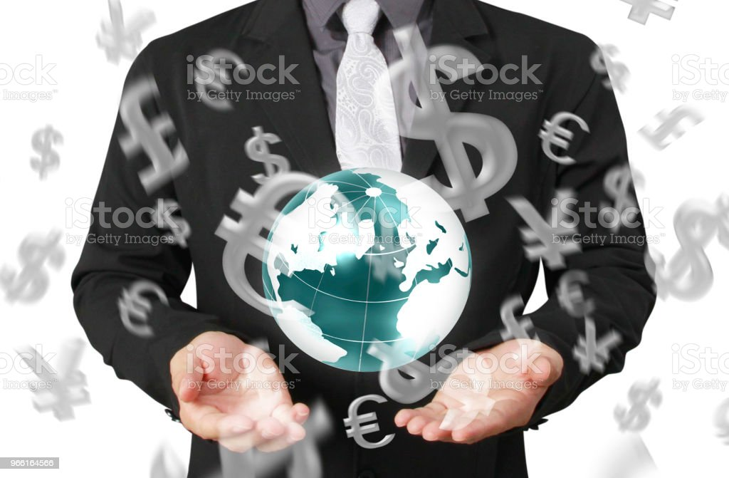 Globen, jorden i mänsklig hand jorden bilden som tillhandahålls av Nasa - Royaltyfri Del av Bildbanksbilder