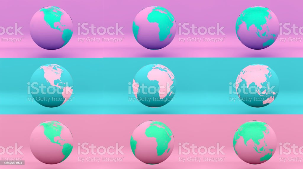 globe earth rainbow summer stock photo