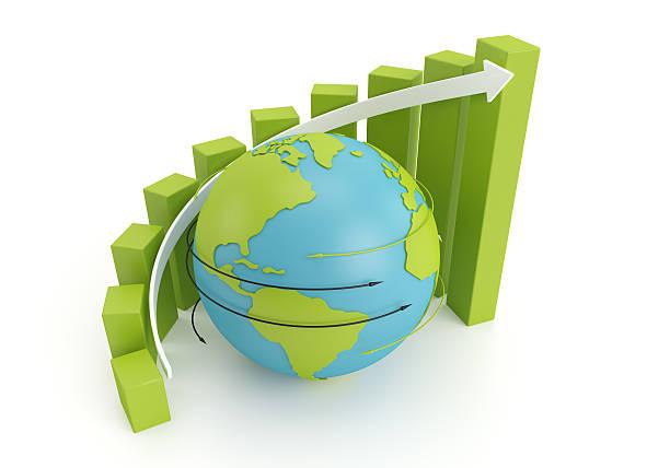 globe graph stock photo