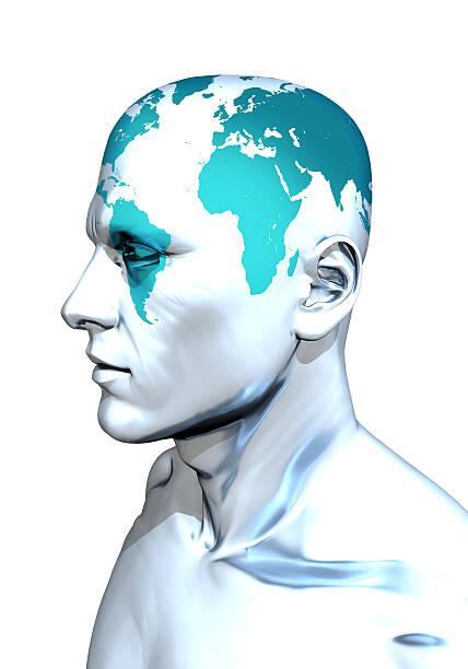 globe head - imperialismus stock-fotos und bilder