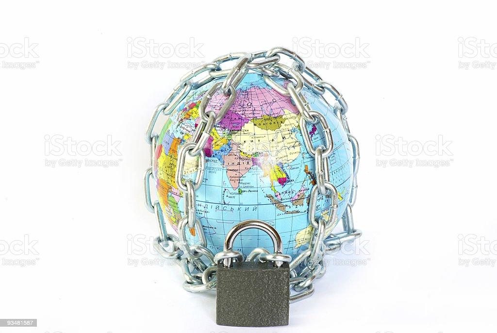 전세계 사슬임 - 로열티 프리 0명 스톡 사진