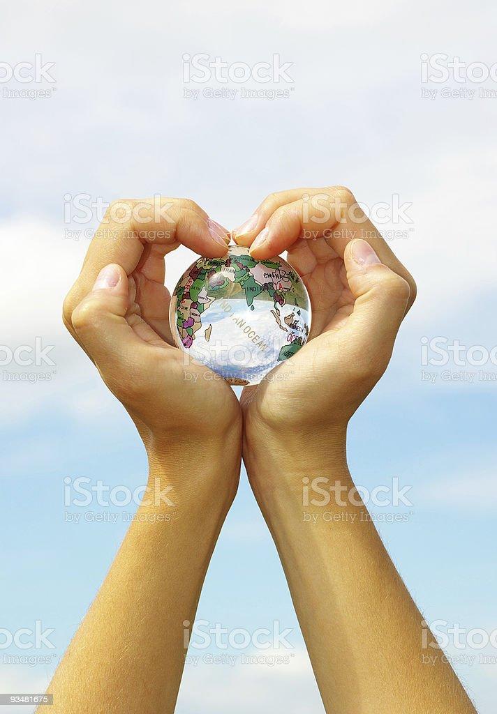 전세계 손 - 로열티 프리 사람들 스톡 사진