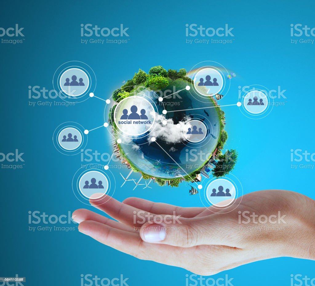 Globe  in human hand, hand holding our planet earth glowing. Earth image provided by Nasa foto stock royalty-free