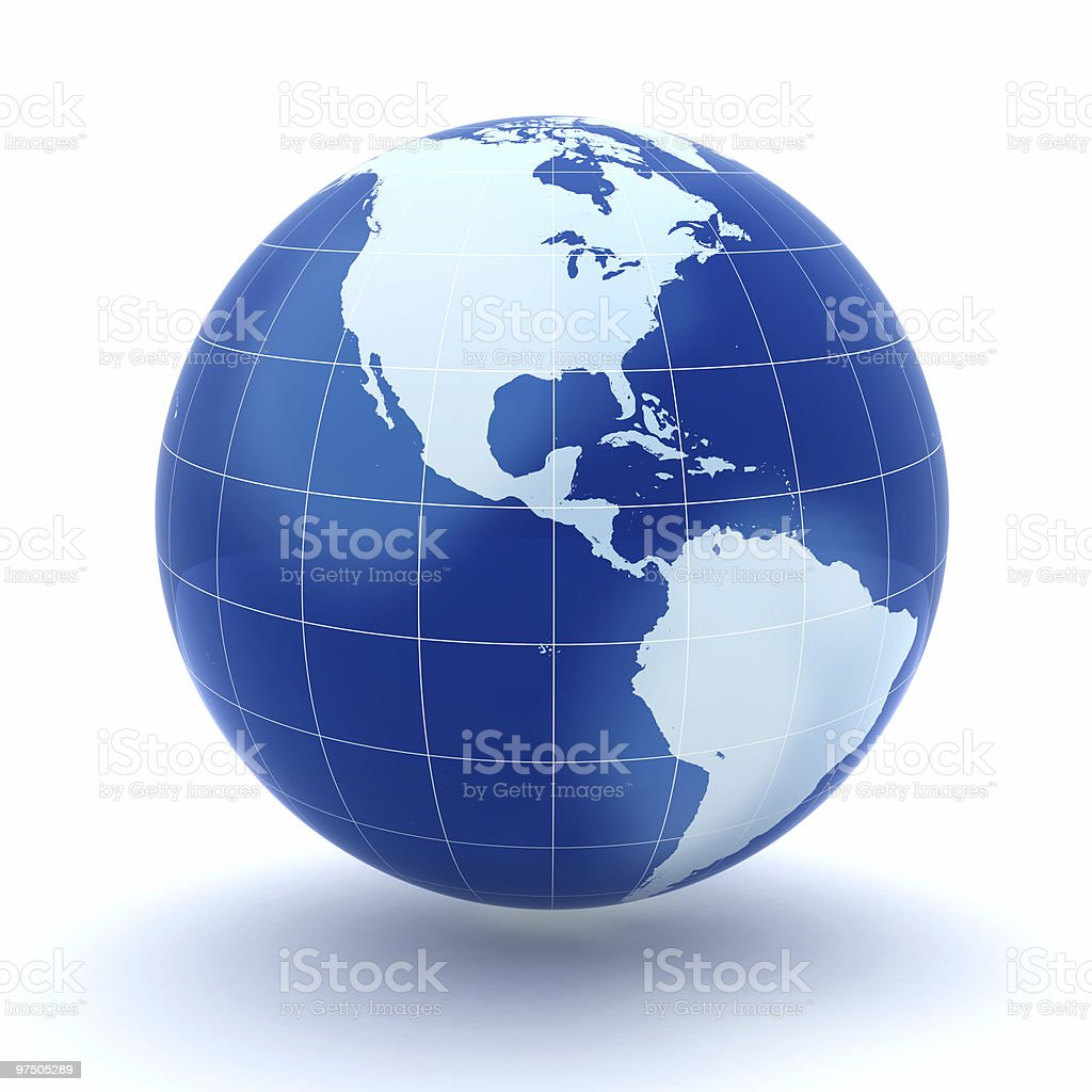 Globe Isolated royalty-free stock photo