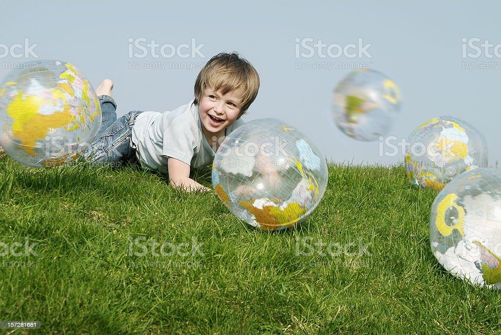 Globe & Kids serie - 05 stock photo