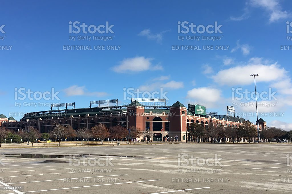 Globe Life Park, home to the Texas Rangers stock photo